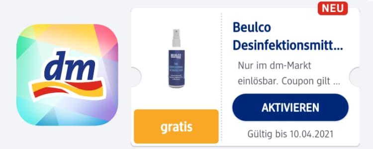 gratis Desinfektionsmittel mit Mein dm-App