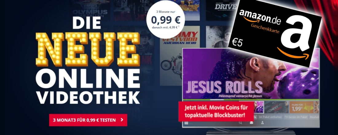 Freenet-Video + 5€ Amazon-Gutschein