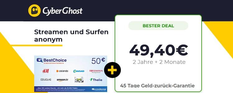 Cyberghost Bonus-Deal