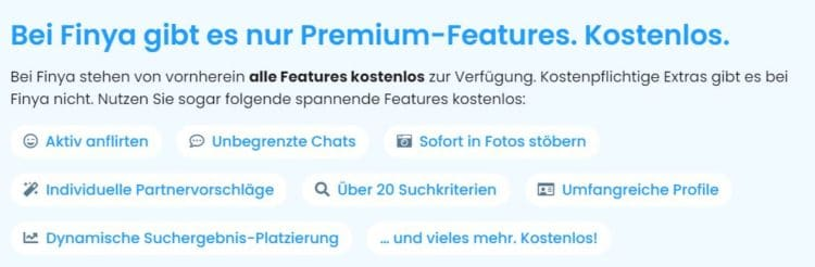 Features bei Finya