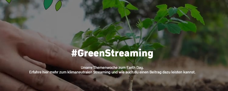 Green Streaming bei Zattoo