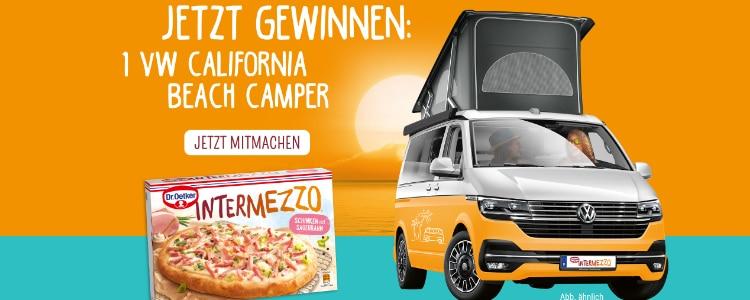 Mit Dr. Oetker VW Camper gewinnen