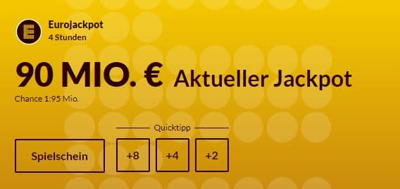 90 Mio € im Jackpot