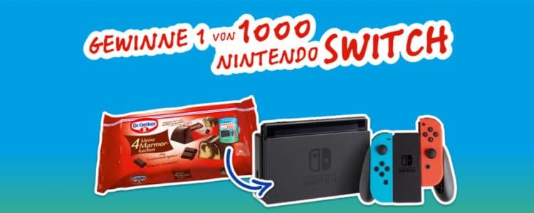 Dr. Oetker Nintendo Switch Gewinnspiel