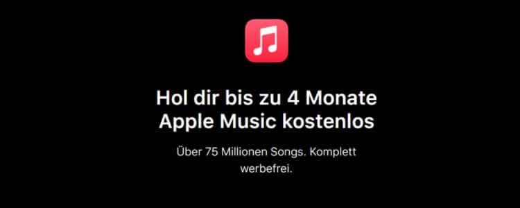 Apple Music 4 Monate