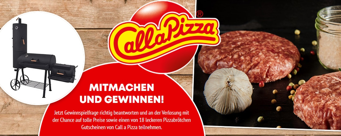 Call A Pizza Gewinnspiel Grill