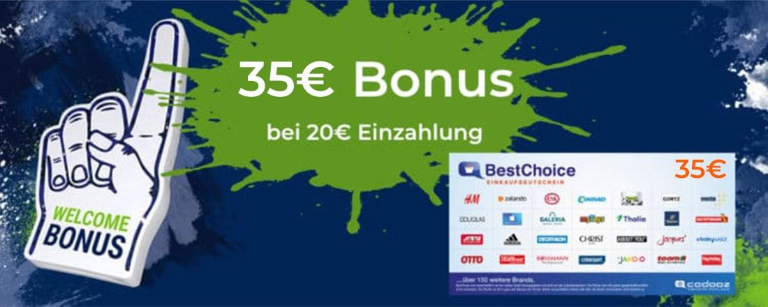 35€ Gutschein bei bet-at-home