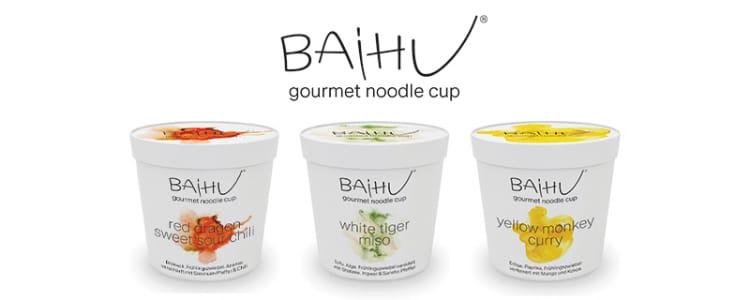 BAiHU Gourmet Noodle Cups