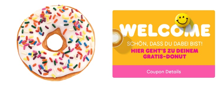 Donut bei Dunkin' Donuts