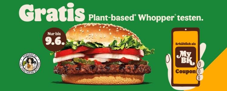 Plant based Whopper gratis