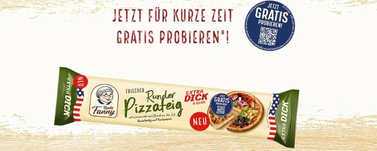 Tante Fanny Frischer Runder Pizzateig gratis testen