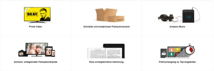 Vorteile mit Amazon Prime