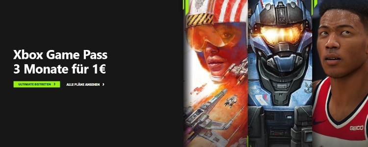 Xbox Game Pass für 1€