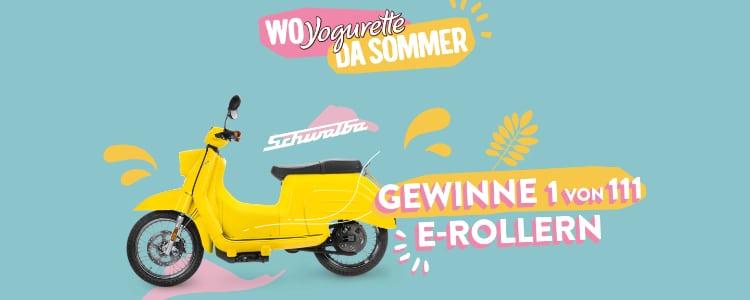 Yogurette E-Roller gewinnen