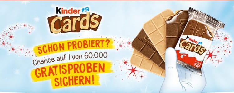 kinder Cards 60.000 Proben