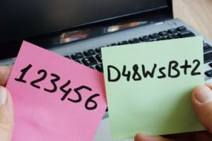 Passwörter auf Post-It