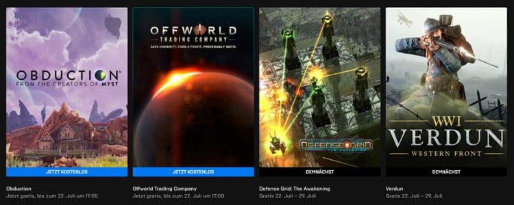 Gratis Epic Store Spiel: Obduction und  Offworld