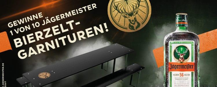 Bierzelt-Garnitur mit Jägermeister gewinnen