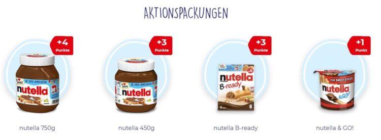 Nutella Aktionspackungen