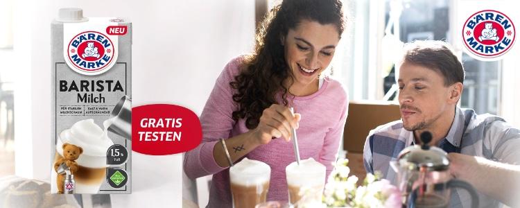 Barista-Milch von Bärenmarke gratis testen