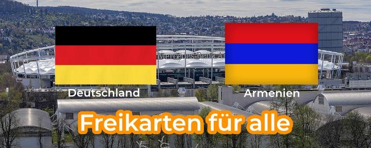 Fußball Freikarten Deutschland-Armenien