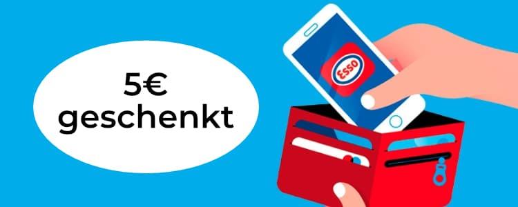 Esso Pay 5€ geschenkt
