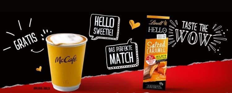 Lindt McCafe Heißgetränk gratis