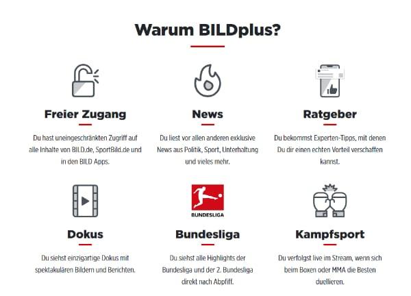 BILDplus Vorteile