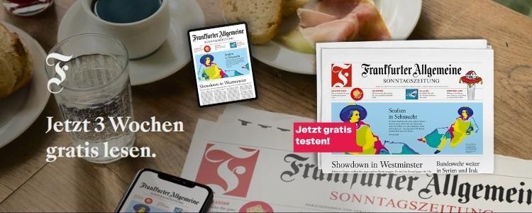 FAZ Sonntagszeitung gratis lesen