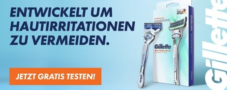 Gillette Produkte gratis testen