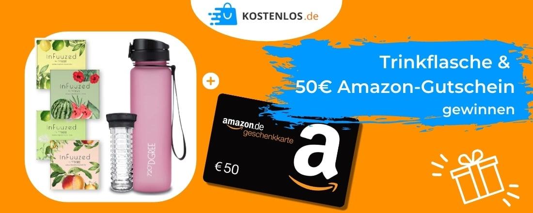 Trinkflasche + Amazon-Gutschein gewinnen