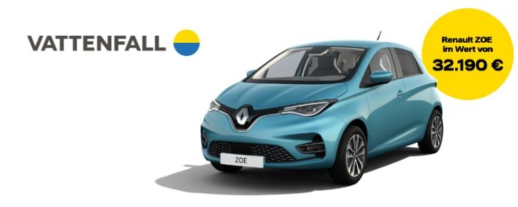 Vattenfall-Gewinnspiel Renault ZOE gewinnen