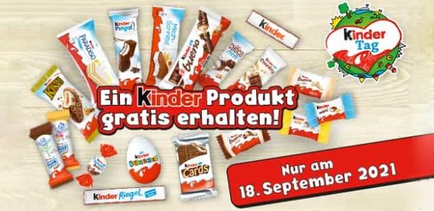 kinder Produkt gratis