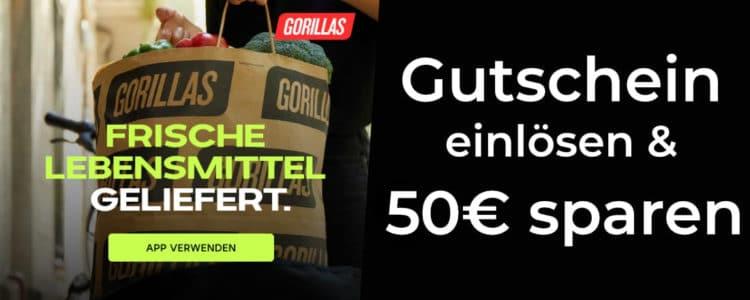 50€ Gorillas Gutschein