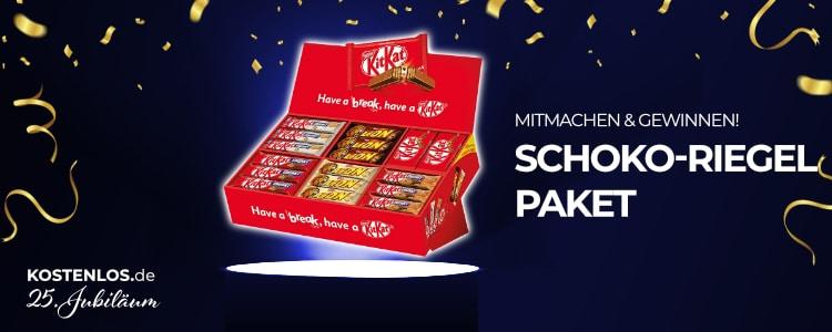 Schoko-Riegel-Paket gewinnen